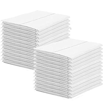 Image of Standard Size Collection -Bulk Pack 200 Pair Pillowcases 400 Thread Count 100% Cotton Cotton Pillows for Sleeping, Hypoallergenic - Wrinkle Resistant - Easy Care Bed Pillow Covers-White Solid Home and Kitchen