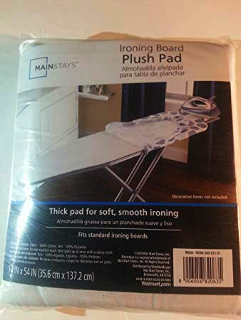 Ironing Board Plush Pad (14in x 54 in / 35.6 cm x 137.2 cm) / Fits Standard Ironing Boards