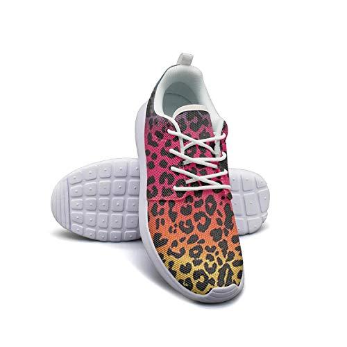 (Rainbow Leopard Print Stripe white Tennis Shoes for Women new Comfortable and Lightweight Running Shoes For Girls)