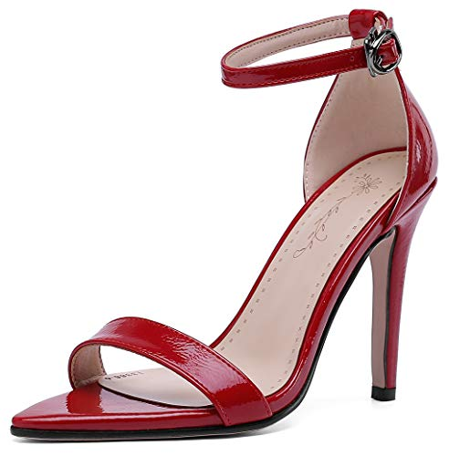 Mofri Women's Dress Ankle Strap Stiletto High Heels
