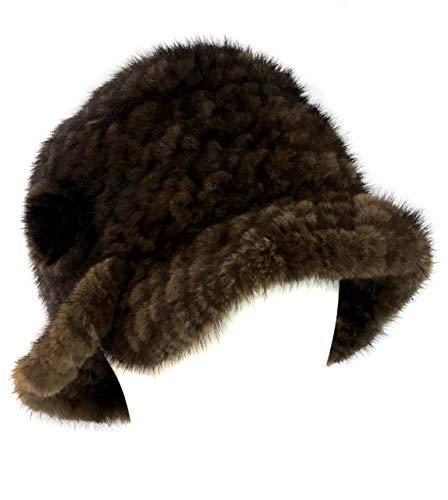 Surell Mink Cloche Knit Hat...