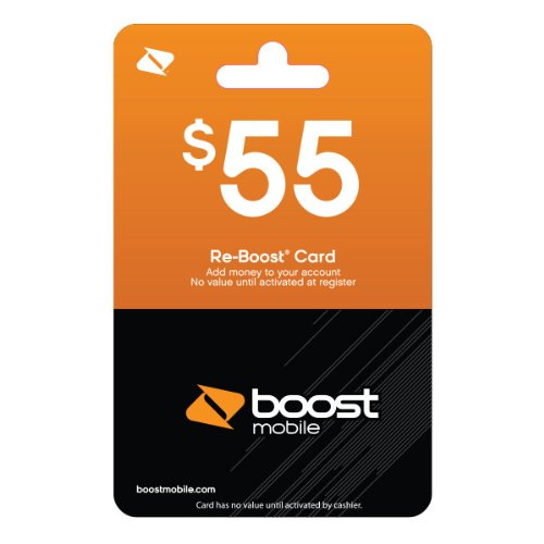 Boost Mobile $55 Reboost Refill Card (Mail Delivery) (Boost Mobile Prepaid Cards)