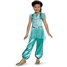 Jasmine Classic Disney Princess Aladdin Costume, One Color, Small/4-6X