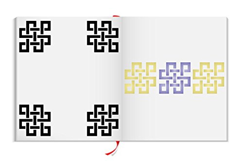 """ENDLESS KNOT STENCIL (size: 4.75""""w x 4.75""""h) Reusable Stencils for Painting - Best Quality TAOIST ASIAN SYMBOLS - Use for SCRAPBOOKING, Walls, Floors, Fabrics, Glass, Wood, Cards, and More…"""