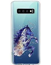 Oihxse Compatible con Samsung Galaxy S6 Edge Plus Funda Suave Gel TPU Silicona Cristal Transparente Carcasa Acuarela Animal Pintado Patrón Protectora Estuche Bumper Caso Case (B5)