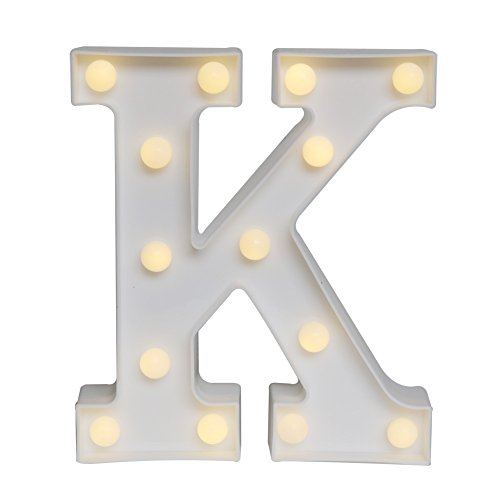 DELICORE LED Marquee Letter Lights Alphabet Light Up Sign for Wedding Home Party Bar Decoration K (11 Words Christmas Letter)
