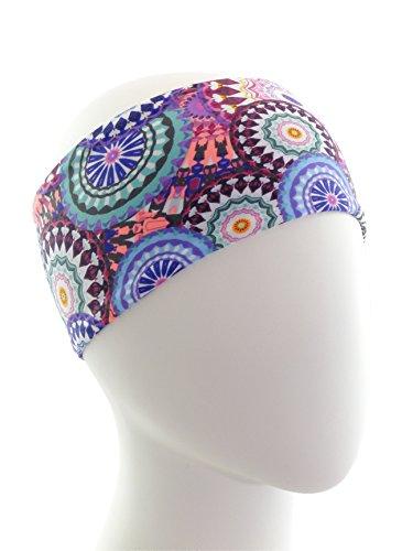 Ice cream INTENSITY Circles Pink Fitness Headband: No slip, Antibacterial, Hypoallergenic and Thermo Regulating