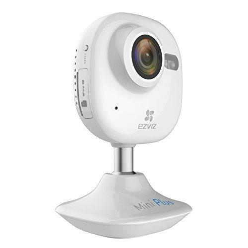 EZVIZ Mini Plus HD 1080p Wi-Fi Video Security Camera, 16GB MicroSD, Works with Alexa – White by EZVIZ