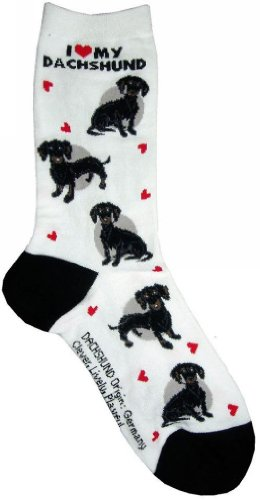 I Love My Dachshund(Black) Gift Collection (Women Cotton Socks)