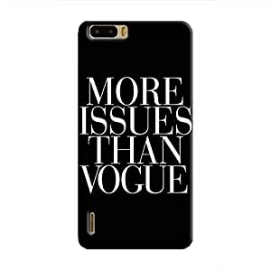 Cover It Up Vogue Issues Hard Case For Huawei Honor 6, White & Black