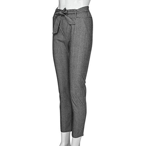 Pantaloni Jogging Chino Moda Waist Monocromo Primaverile Leggins Dei Chic Due Tasche Cute Scuro Libero High Sportivi Grigio Tempo Donna Pantalone Eleganti Cintura Autunno Inclusa Con 08xRxYP