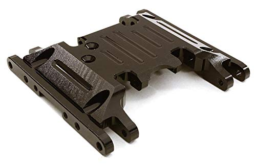 Savage Center Skid Plate - Integy RC Model Hop-ups OBM-1330BLACK CNC Machined Alloy Center Skid Plate for Axial 1/10 SCX10 II w/LCG Transfer Case