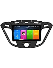 Auto Stereo Android 10.0 Radio voor Ford Custom/Transit 2013-2018 Gps-navigatie 9 Inch Head Unit HD Touchscreen MP5 Multimedia Player Video met WiFi DSP SWC Mirrorlink