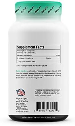 DIM Supplement 500mg - DIM Diindolylmethane - All Natural Estrogen & Hormone Balance Supplement Great for Detox, Menopause Relief, Acne, PCOS, Weight Loss & Bodybuilding – Vegan Friendly 10