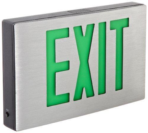 inCast Aluminum LED Exit Sign - Green Lettering, Aluminum Housing, Black Facein (Pkg of 2)