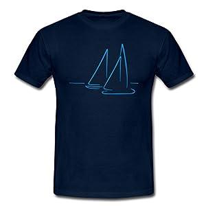 Segeln Segelboote Meer Männer T-Shirt von Spreadshirt, XL, Navy