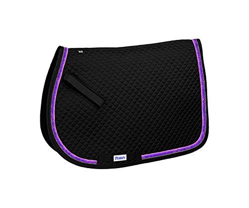 Perri's A/P Pony Sparkle Ribbon Saddle Pad A/P Black Purple Sparkle Ribbon Saddle Pad, All Purpose