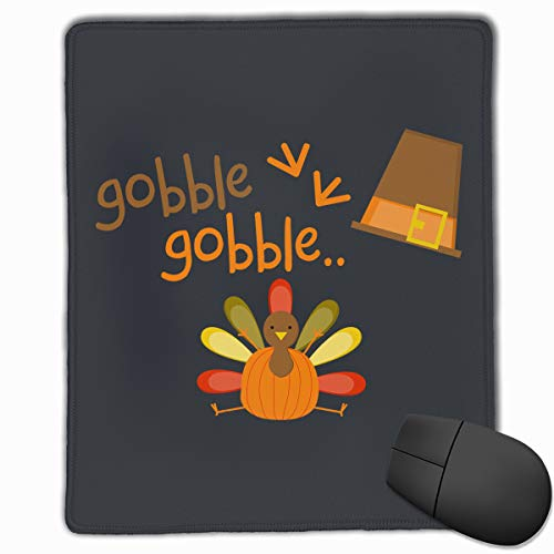 (Happy Index Thanksgiving Mouse Pad with Stitched Edge, Premium-Textured Customized Non-Slip Rubber Mousepad Gaming Mouse Pad, 11.8x9.8x0.12 in)