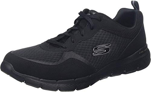 Skechers Women's Flex Appeal 3.0-go Forward Sneaker, BBK, 5.5 W US