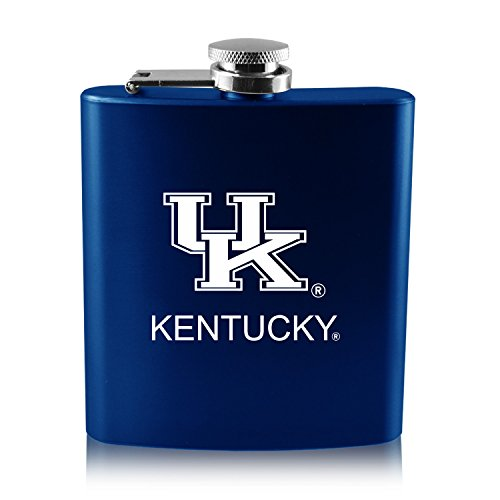 University of Kentucky -6 oz. Color Stainless Steel Flask-Blue