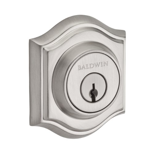 Baldwin Reserve 9BR3850-007 Traditional Arch Low Profile Double Cylinder Deadbolt in Satin Nickel