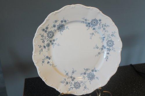 Seltmann Weiden Christina Bavarian Blue Porcelain W. Germany 2 Dinner Plates Blue Flowers, Scalloped 10 1/2