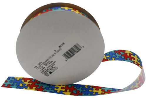 Autism Awareness Jigsaw Ribbon Spool for sale  Delivered anywhere in USA