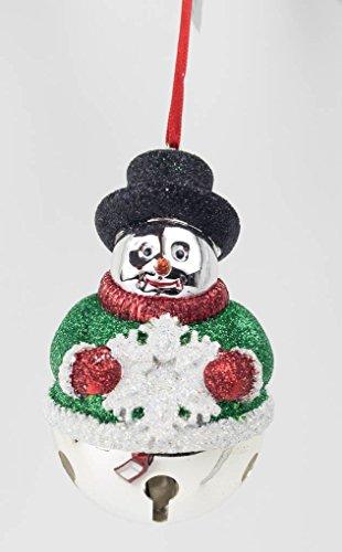 Reed & Barton Snowman Sleigh Bell Silverplate Ornament Reed & Barton Snowman
