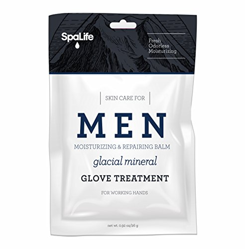 Spa Life Mens Order-less Glacial Mineral Moisturizing And Repairing Balm For The Working Hand Hand (Hand Gloves 2 Pairs) by Spa life