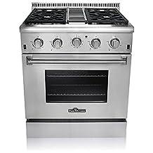 "Thor Kitchen HRG3031U Professional Style Stainless Steel Gas Range, 30""W"