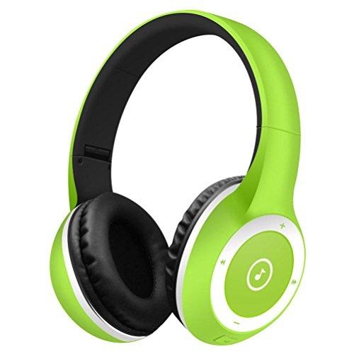 - DZT1968 Bluetooth V4.0 Headphones Wireless light Foldable Gaming Headset earphone with Mic (Mint Green)
