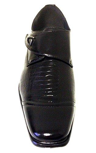 J-6315 Scarpe Eleganti Da Uomo Slip On Mocassini Casual Fashion Snake Print Cinturino In Coccodrillo Nero Nero