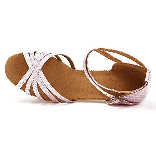 Mujeres Latinos Ykxlm Rosa Esxgg Salsa modelo Baile De Claro Calzado Salón Zapatos Danza Zapatillas Performance amp;niña Tango dqtrUtnS