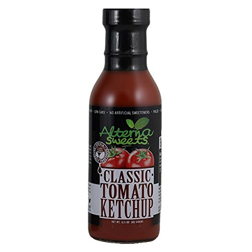 AlternaSweets Stevia Sweetened Classic Tomato Ketchup - 13.5 oz - Low Carb - KETO/Paleo/Atkins/Diabetic Friendly - Non GMO - Gluten Free