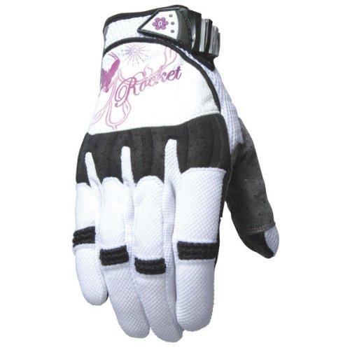 Joe Rocket Heartbreaker Women's Textile Street Motorcycle Gloves - White/Purple / Large