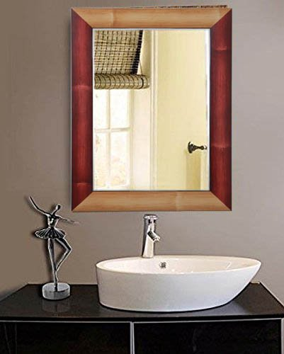 Buy Zahab Multicolour Fiber Frame Wall Mirror for Bathroom || Size ...