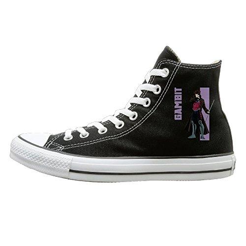 Unisex Classic Gambit Slip-On Shoes Black Size42 - Loki Laufeyson Costume