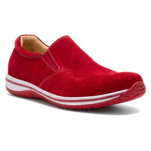 Alegria Mens Aaron Slip-on Röda Mocka