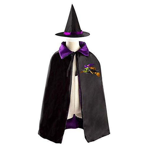 69PF-1 Halloween Cape Matching Witch Hat Evil Witch