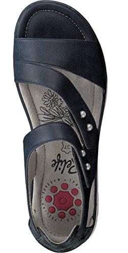 Scarpe Relife Da Donna Con Sandali Romani Con Velcro 8717-17702-12 In 3 Colori Blu Scuro