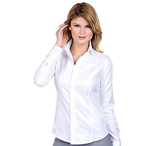 neiman-marcus-womens-white-cotton-stretch-button-down-shirt-large-small-white