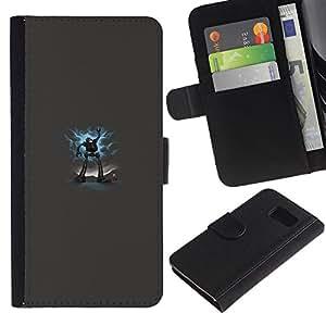 EJOY---La carpeta del tirón la caja de cuero de alta calidad de la PU Caso protector / Samsung Galaxy S6 / --Gran Robot