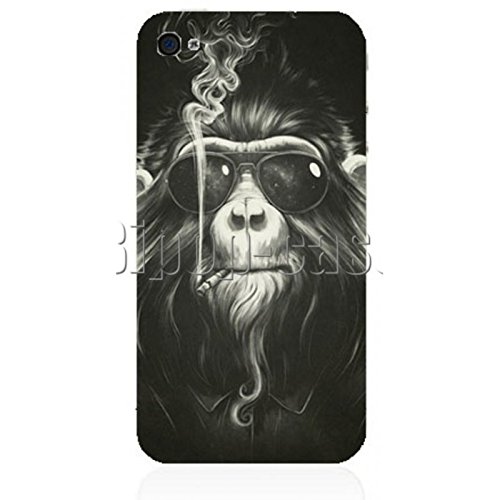 COQUE PROTECTION TELEPHONE IPHONE 4 ET 4S - SINGE LUNETTES