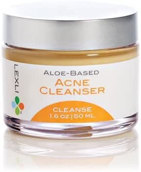 Lexli Aloe Vera Acne Face Cleanser with Salicylic Acid I Maximum Strength Acne Face Wash I Breakouts, Spots, Cystic Acne for Adults and Teens I For Acne Prone Skin I Paraben-Free – 1.6 Oz