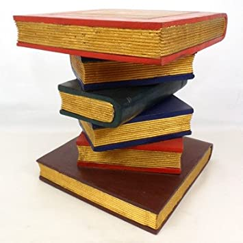 Incredible Bookstack Side Table Amazon Co Uk Kitchen Home Download Free Architecture Designs Fluibritishbridgeorg