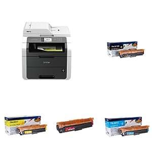Brother MFC-9140CDN - Impresora multifunción láser color + Pack de 4 tóners TN241