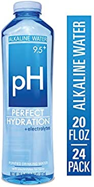 Perfect Hydration Alkaline Electrolyte Enhanced Water, 9.5+ pH | Ultra Purified Ionically Charged Minerals Added Drinking Wa
