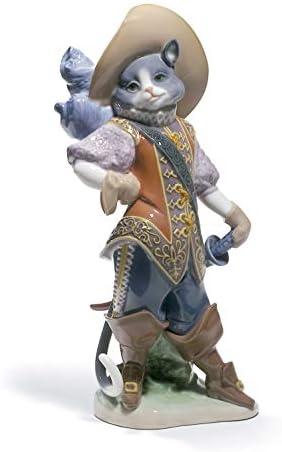 LLADR Puss in Boots Cat Figurine. Porcelain Cat Figure.