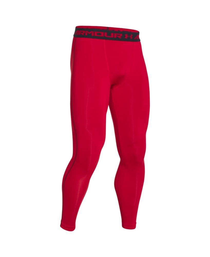 Under Armour Men's HeatGear Armour Compression Leggings, Red /Black, XX-Large by Under Armour (Image #4)