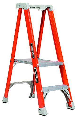Louisville Ladder 2' Fiberglass Platform Ladder, 300 lbs Dut